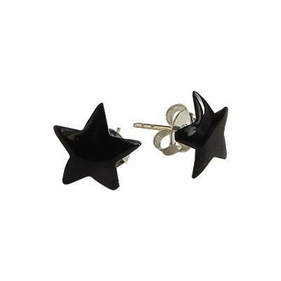 Pendiente de plata en forma de estrella 9mm, OR76-2