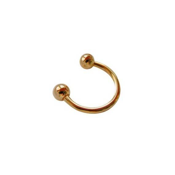 Piercing aro dorado GPE37-2
