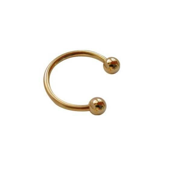 Piercing aro dorado GPE37-3