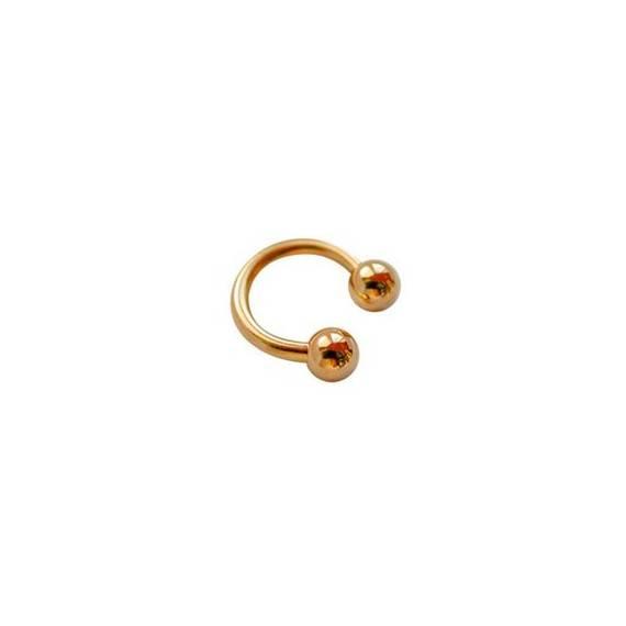 Piercing aro dorado GPE37-1