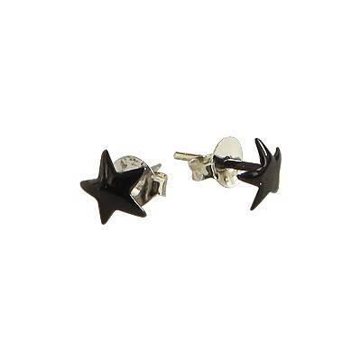 Pendiente de plata en forma de estrella 6mm, OR75-3
