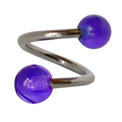 Piercing ombligo espiral GES9-7