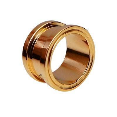 Dilatacion 14mm ,acero quirurgico ,dorada GX54-2