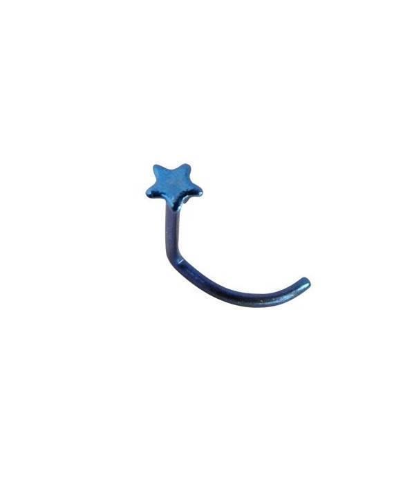 Piercing nariz de titanio, palo curvado, 0,8mm, GNS6-01