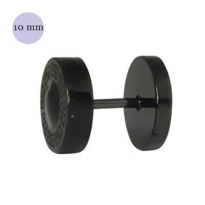 Dilatacion falsa acero, parecido diseño búlgari, 10mm, color negro