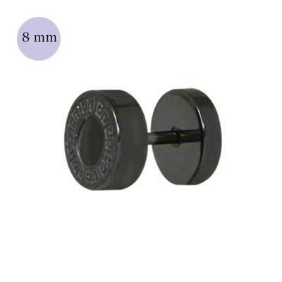 Dilatacion falsa acero, parecido diseño búlgari, 8mm, color negro