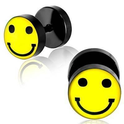 Dilatacion falsa negra de acero, dibujo smile