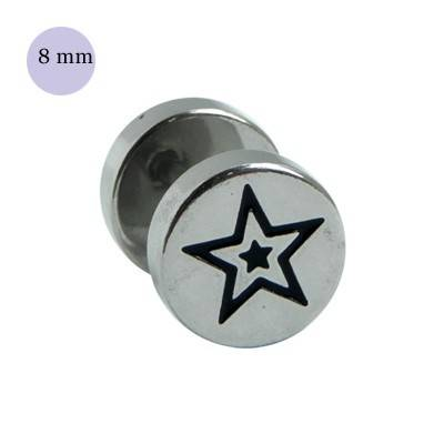 Dilatacion falsa de acero, dibujo estrella, diámetro 8mm