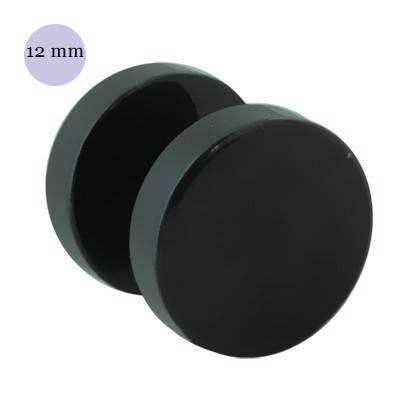 Dilatacion falsa lisa de acero negro, diámetro 12mm