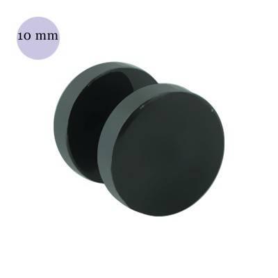 Dilatacion falsa lisa de acero negro, diámetro 10mm