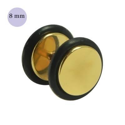 Dilatacion falsa dorada de acero con anillas de goma, diámetro 8mm