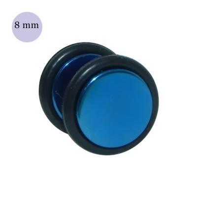 Dilatacion falsa azul de acero con anillas de goma, diámetro 8mm