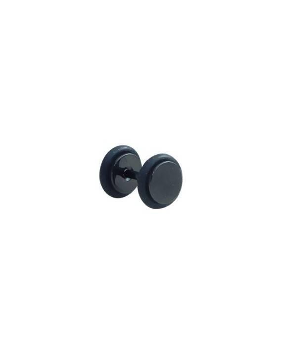 Dilatacion falsa acero negro con anillas de goma, diámetro 6mm