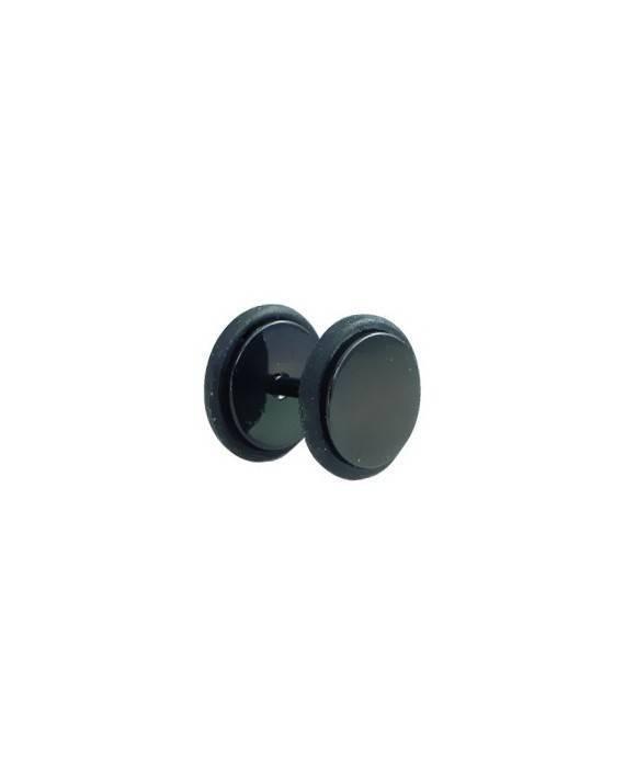 Dilatacion falsa acero negro con anillas de goma, diámetro 10mm