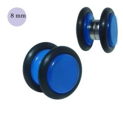 Dilatación falsa de iman azul de plástico, diámetro 8mm