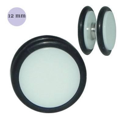 Dilatación falsa de iman blanca de plástico, diámetro 12mm