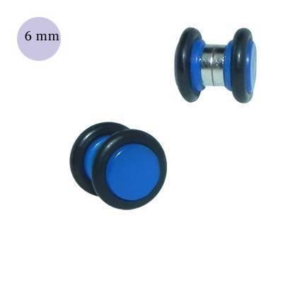 Dilatación falsa de iman azul de plástico, diámetro 6mm