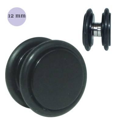 Dilatación falsa de iman negra de plástico, diámetro 12mm
