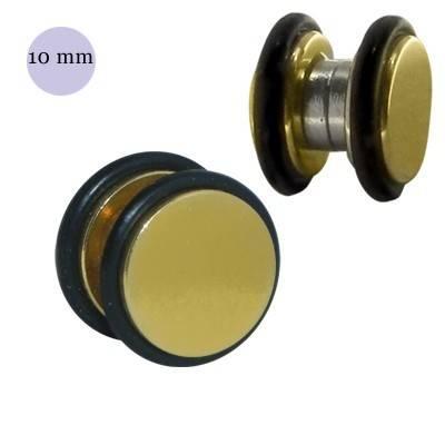 Dilatación falsa de iman dorada de acero con anillas de goma, 10mm