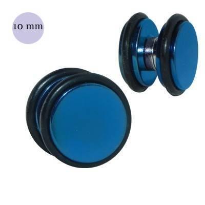 Dilatación falsa de iman azul de acero con anillas de goma, 10mm