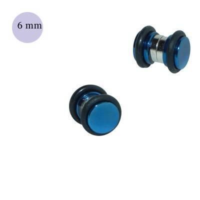 Dilatación falsa de iman azul de acero con anillas de goma, 6mm