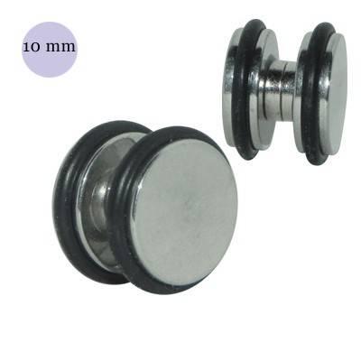 Dilatación falsa de iman de acero con anillas de goma, 10mm
