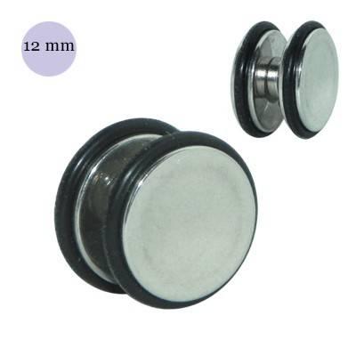 Dilatación falsa de iman de acero con anillas de goma, 12mm