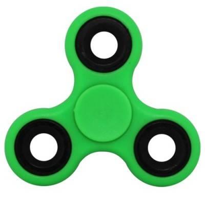 Peonza dedo, verde claro, fidget spinner. PZA08