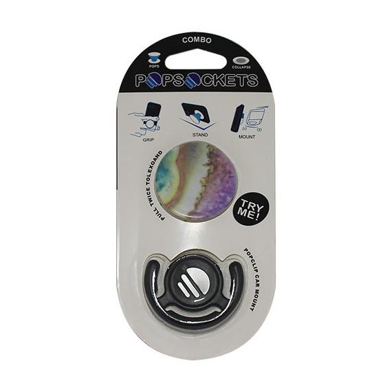 Popsocket como marmol de colores, accesorio para móviles, se pega en la parte trasera para hacer fotos
