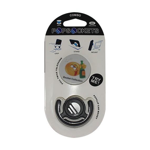 Popsocket dibujo emoticono, accesorio para móviles, se pega en la parte trasera para hacer fotos