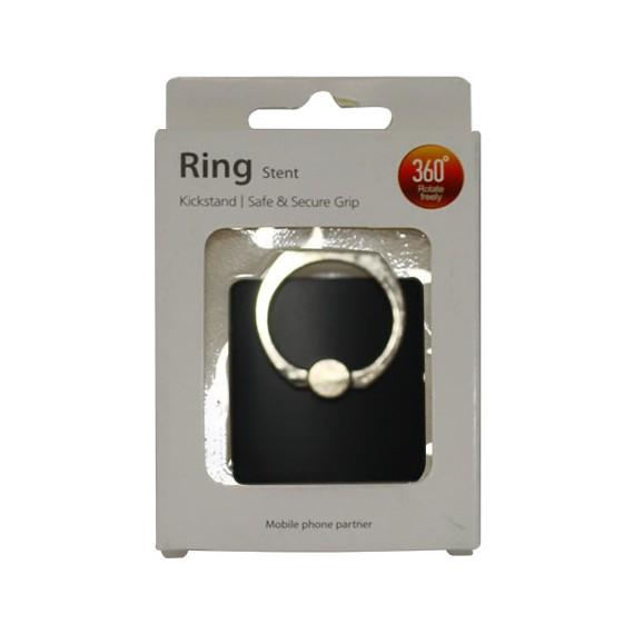 Popsocket de aluminio negro, accesorio para móviles, se pega en la parte trasera para hacer fotos