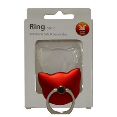 Popsocket de aluminio gato rojo, accesorio para móviles, se pega en la parte trasera para hacer fotos