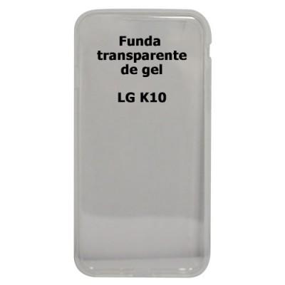 Funda LG K10 transparente de gel