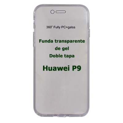 Funda Huawei P9 doble tapa transparente de gel