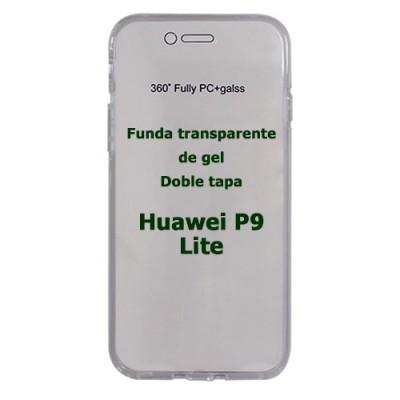 Funda Huawei P9 Lite doble tapa transparente de gel