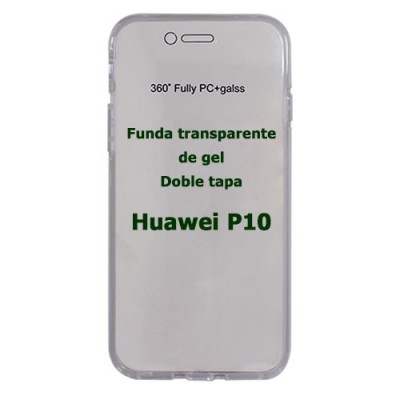 Funda Huawei P10 doble tapa transparente de gel