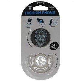 Popsocket calavera, accesorio para móviles, se pega en la parte trasera para hacer fotos
