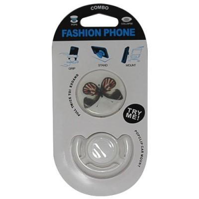Popsocket mariposa, accesorio para móviles, se pega en la parte trasera para hacer fotos