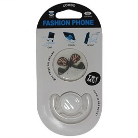 Popsocket mandala color azul claro, accesorio para móviles, se pega en la parte trasera para hacer fotos