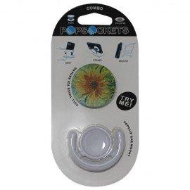 Popsocket flor, accesorio para móviles, se pega en la parte trasera para hacer fotos
