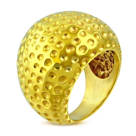 código promocional 8209b 5fa77 Anillo mujer de acero inoxidable quirúrgico dorado, , 22mm de ancho.  Calidad - DENI