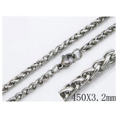 Cadena hombre de acero quirúrgico de la mejor calidad, 46cm de largo y 4,5mm de ancho.