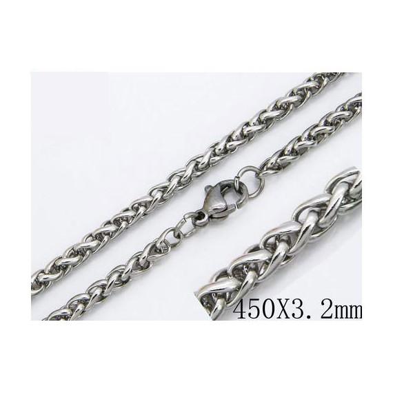 Cadena hombre de acero quirúrgico de la mejor calidad, 45cm de largo y 3,2mm de ancho.