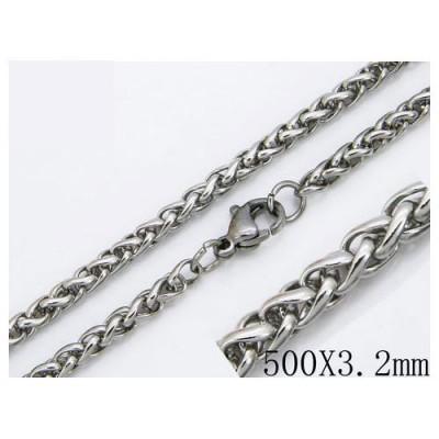 Cadena hombre de acero quirúrgico de la mejor calidad, 50cm de largo y 3,2mm de ancho.