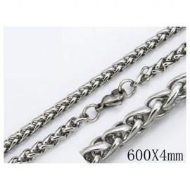 Cadena hombre de acero quirúrgico inoxidable de la mejor calidad, 60cm de largo y 5mm de ancho.