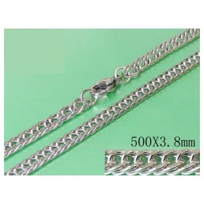 Cadena hombre de acero quirúrgico inoxidable de la mejor calidad, 50cm de largo y 3,8mm de ancho.