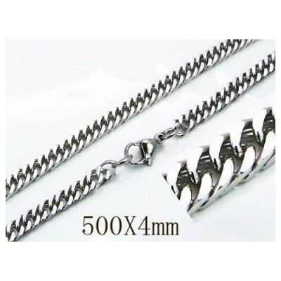 Cadena hombre de acero quirúrgico inoxidable de la mejor calidad, 60cm de largo y 5,7mm de ancho.