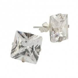 Pendientes de plata con piedras hombre